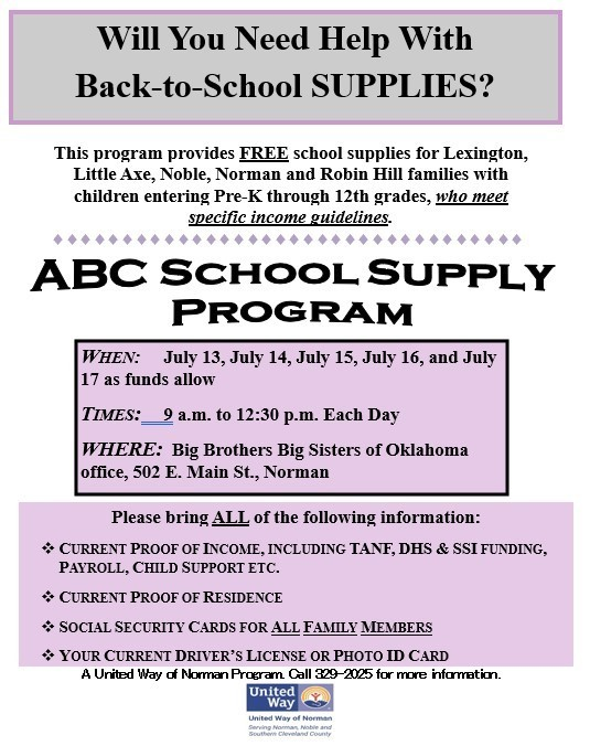 United Way - School Supply Assistance